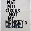Ramona zirk, Zirkus, Affe, Linoldruck