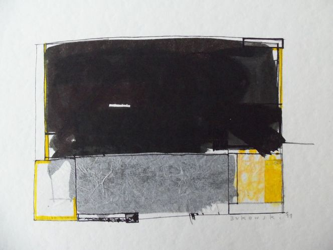 Abstrakt, Weiß, Schwarz, Gelb, Zeichnungen