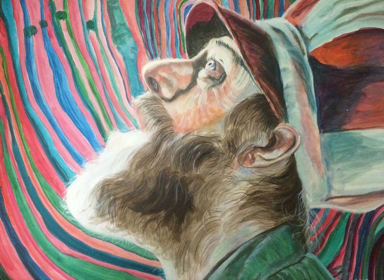 Portrait, Bart, Mütze maler, Licht, Schatten, Gesicht
