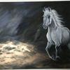 Pferde, Acrylmalerei, Reiten, Malerei