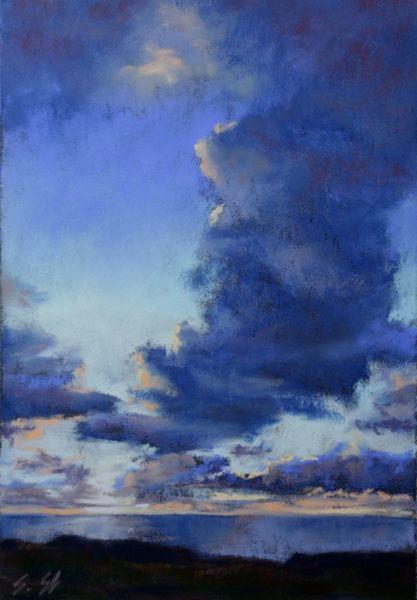 Abend, Wolken, Himmel, Licht, Sonnenuntergang, Malerei