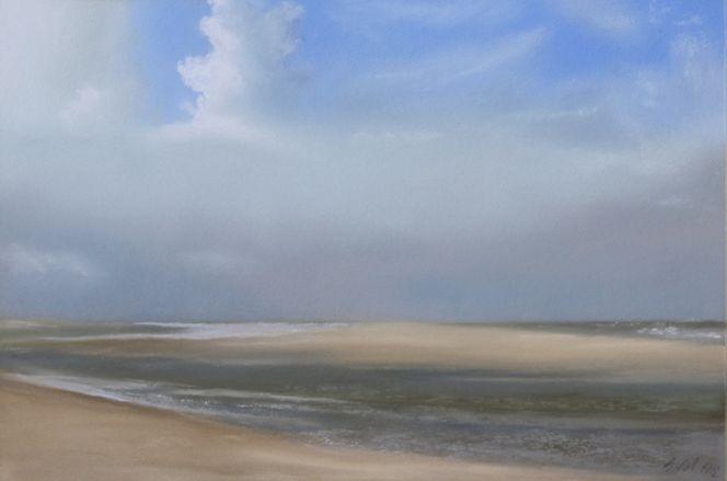 Priel, Nordsee, Himmel, Wetter, Insel, Weite