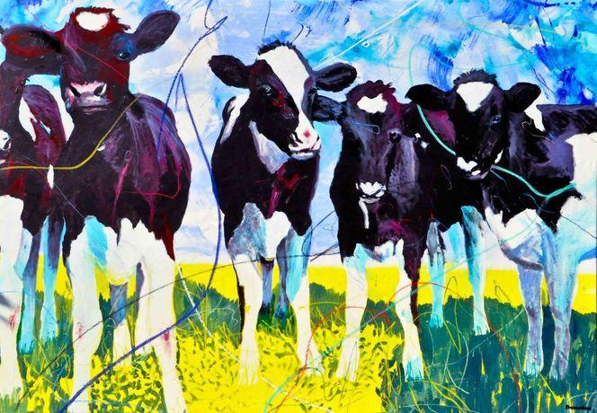 Schatten, Blau, Grün, Ölmalerei, Bauernhof, Bauer