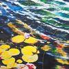 Wasserlilien, Blau, Castle blumenfeld, Moan