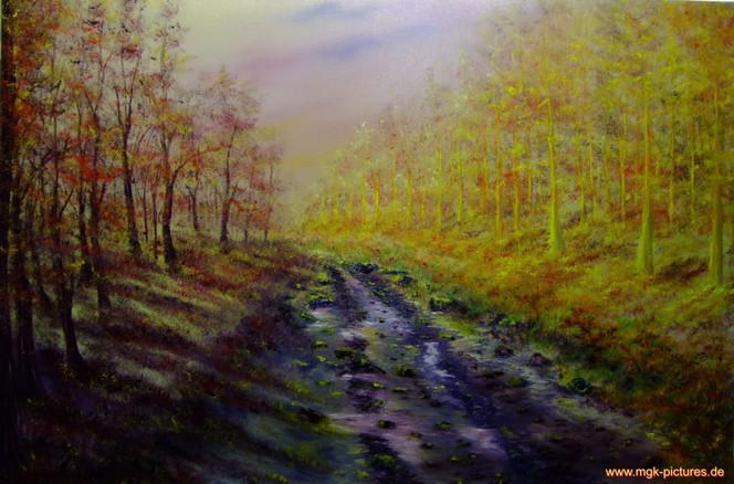 Herbst, Ölmalerei, Malerei