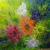 Ölmalerei, Blumen, Malerei, Pflanzen