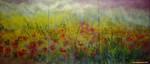 Frühling, Blumenfeld, Malerei