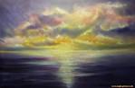 Sonnenaufgang, Malerei, Meer, Sehnsucht
