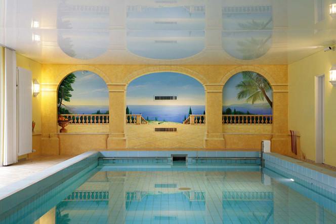 Illusionsmalerei, Wandmalerei, Veranda, Meer, Malerei, Schwimmbad
