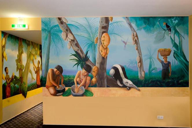 Kakaoernte, Wandmalerei