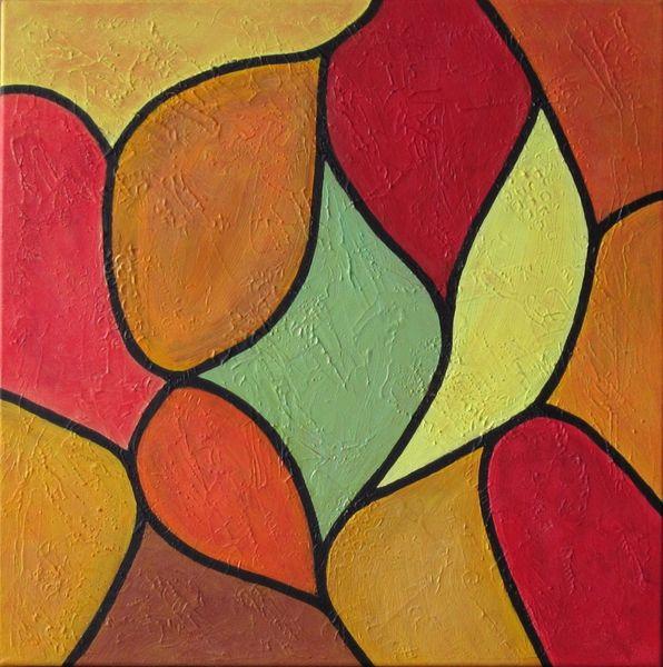 Linie, Komposition, Fläche, Malerei, Abstrakt