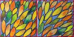 Farben, Herbst, Blätter, Malerei