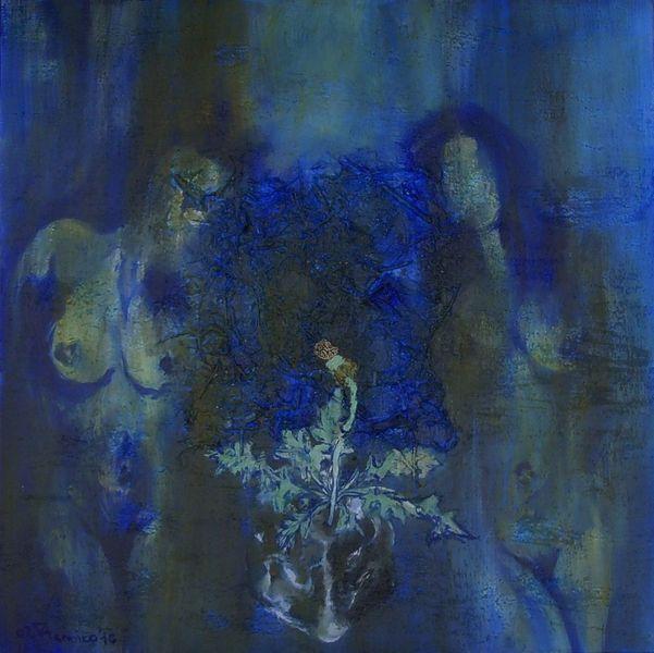 Ewig, Frau, Blau, Acrylmalerei, Malerei, Menschen