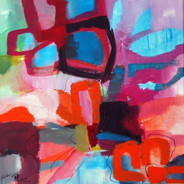 Frühlingsanfang, Malerei, Abstrakt