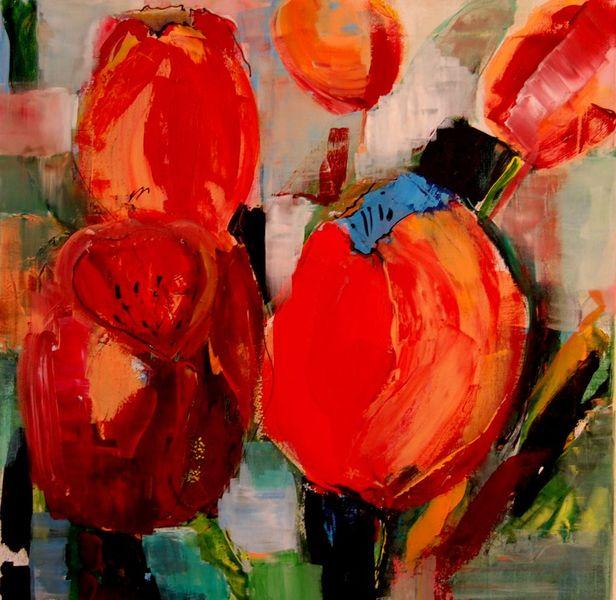 Rot, Blumen, Landschaft, Natur, Tulpen, Wärme