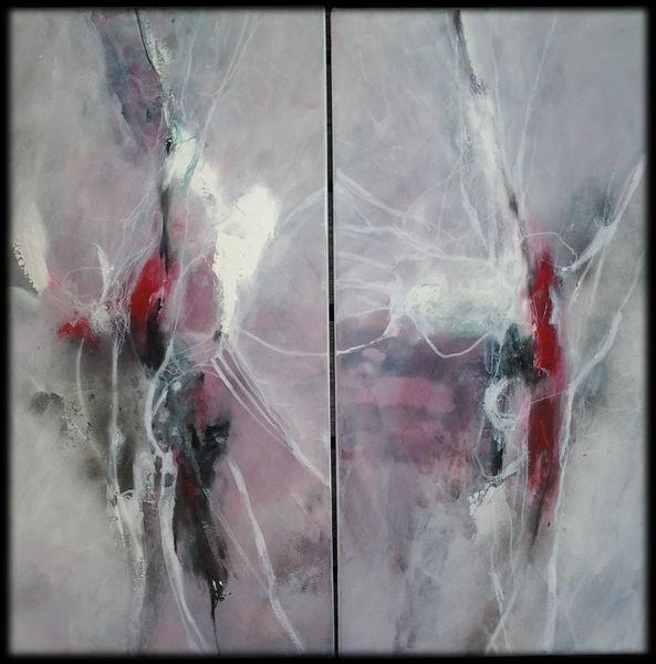 Dekoration, Rot schwarz, Weiß, Abstrakte malerei, Linie, Malerei