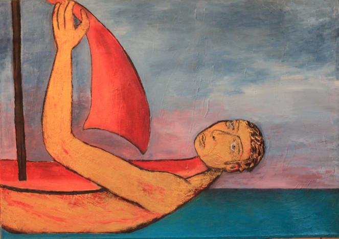 Glück, Schreck, Glücklich, Malerei, Surreal