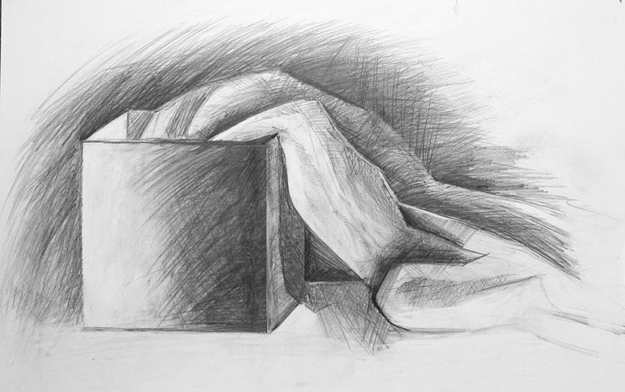 raus aus der kiste schatten falten klassisch zeichnen schachtel von maxim grau bei kunstnet. Black Bedroom Furniture Sets. Home Design Ideas