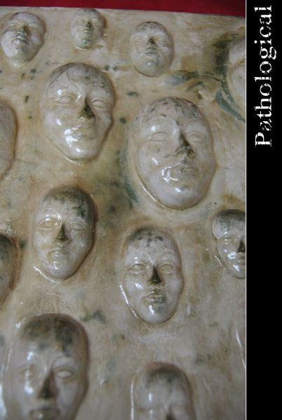 Relief, Angst, Gesicht, Pycho, Marmor, Bad