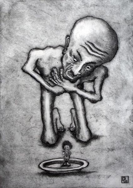 Tod, Untergang, Furcht, Grau, Erbarmen, Schrei