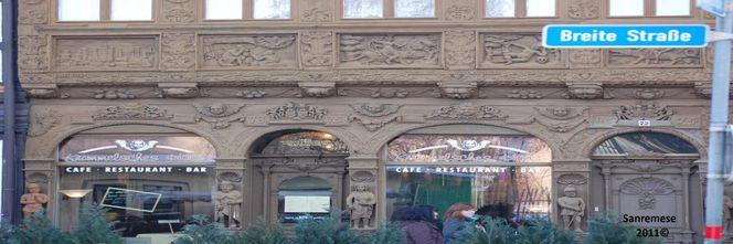 Hausfront, Fassade, Breite straße, Reflexion, Fotografie
