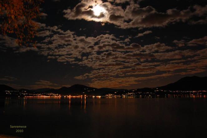 Lago maggiore, Mond, Licht, Nacht, Fotografie, Lago
