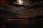 Licht, Nacht, Lago maggiore, Mond