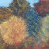 Strauch, Pastellmalerei, Herbst, Baum