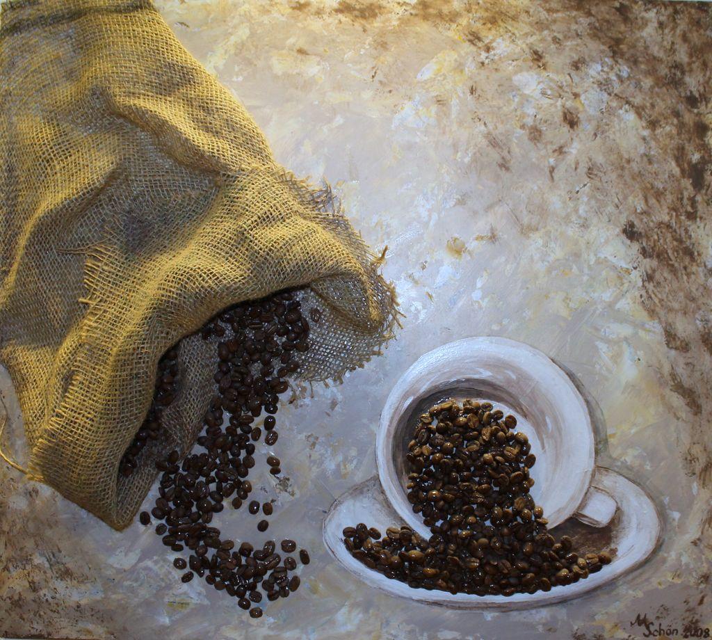 bild collage kaffeebohnen kaffee bohnen von margarita. Black Bedroom Furniture Sets. Home Design Ideas