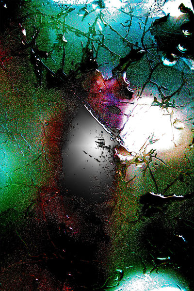 Paprika, Blitz, Glas, Farben, Struktur, Wasser