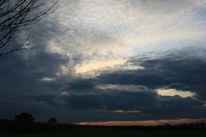 Himmel, Wolken, Sonnenuntergang, Baum, Fotografie