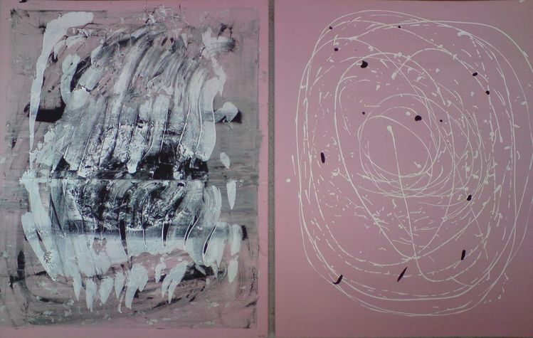 Abstrakt, Acrylmalerei, Malerei, Hell, Dunkel,