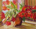 Orange, Schatten, Blumen, Rot