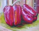 Küche, Rot, Gemüse, Malerei