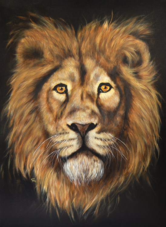 Kunstnet works painting animals könig der tiere