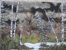Malerei, Winterwald