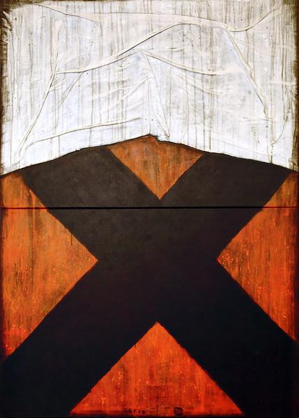 Collage, Malerei, Materialbilder, Abstrakt