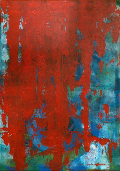 Blau, Grün, Rot, Acrylmalerei, Malerei, Abstrakt
