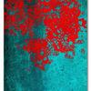 Rot, Türkis, Leinwanddruck, Digitale kunst