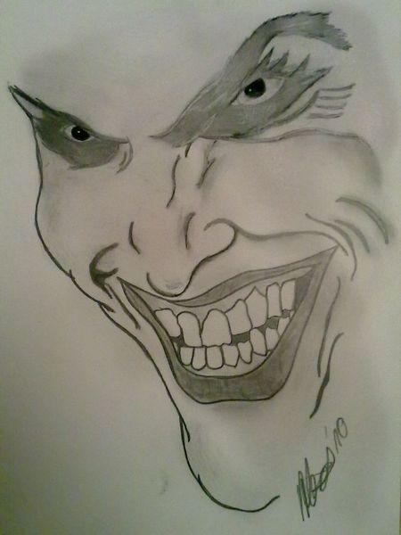 joker zeichnungen portrait joker von batman bei kunstnet. Black Bedroom Furniture Sets. Home Design Ideas