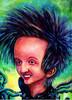 Lächeln, Karikatur, Haare, Malerei