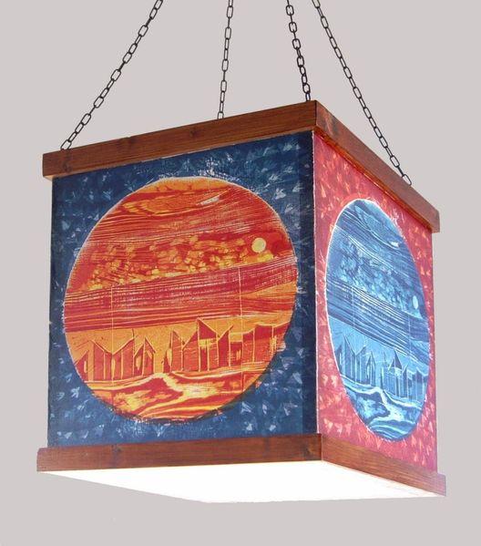 Lampe, Objekt, Leuchtobjekt, Lichtobjekt, Druck, Grafik