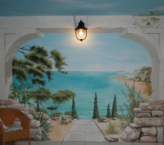 Wandmalerei, Landschaftsmalerei, L´oeil, Illusionsmalerei, Trompe, Malerei