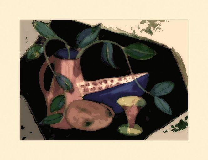 Malerei, Stillleben, Melone
