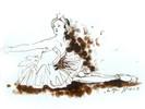 Tuschmalerei, Schwan, Ballett, Figur