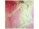 Raum, Figur, Acrylmalerei, Sprung