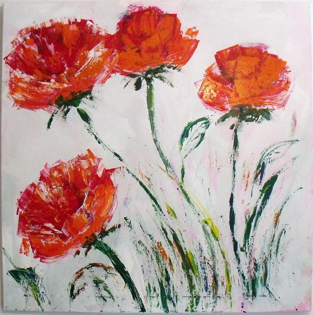 Kunstnet werke malerei abstrakt blumen wiese
