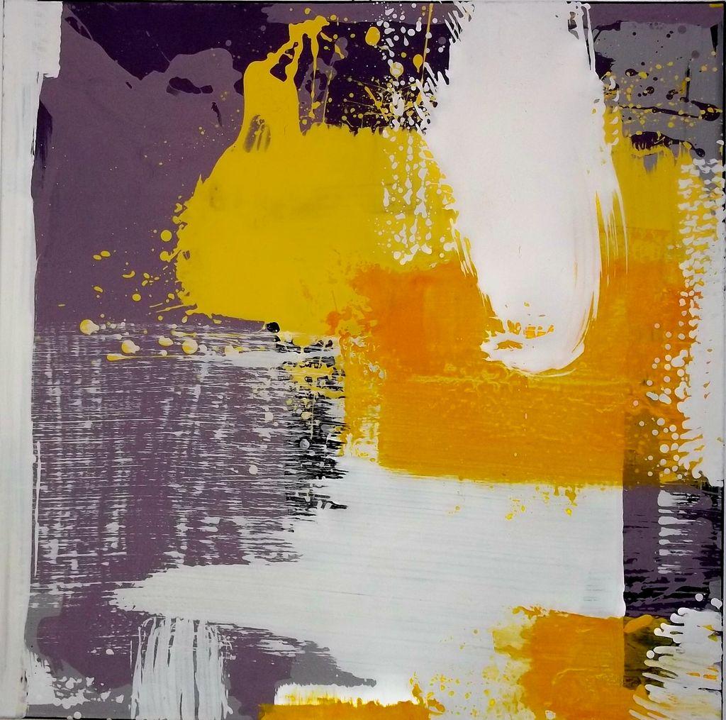 m nchner malerin unikat 80x80cm acrylmalerei modern gelb malerei von elisabeth otte bei. Black Bedroom Furniture Sets. Home Design Ideas