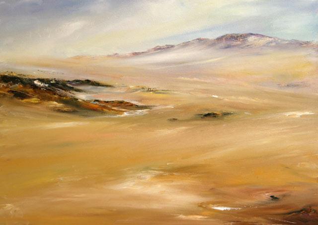 Ebene, Felsen, Wüste, Malerei