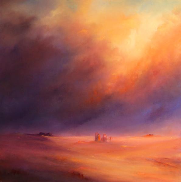Wüste, Felsen, Himmel, Malerei